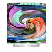 Digital Swirl Of Color 2001 Shower Curtain