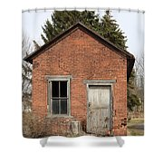 Dilapidated Old Brick Building Shower Curtain by John Stephens