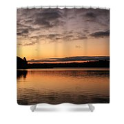 Diminishing Clouds And Rising Sun Shower Curtain