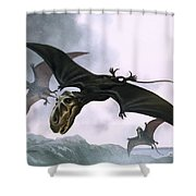 Dimorphodon Shower Curtain by William Francis Phillipps