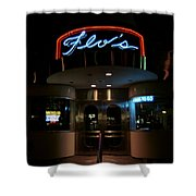 Diner At Night Shower Curtain
