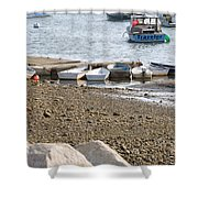Dinghies At Green Harbor Shower Curtain