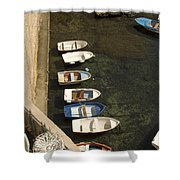 Dinghy's In Dubrovnik Shower Curtain