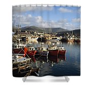 Dingle, Co Kerry, Ireland Boats In A Shower Curtain
