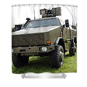 Dingo II Vehicle Of The Belgian Army Shower Curtain