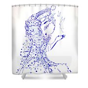 Dinka Courtship - South Sudan Shower Curtain
