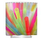 Drinking Straws Shower Curtain