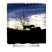 Dinner On The Hill Shower Curtain