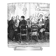 Dinner Party, 1880 Shower Curtain