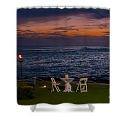 Dinner Setting In Paradise Shower Curtain