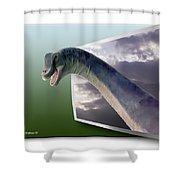 Dinosaur - Oof Shower Curtain