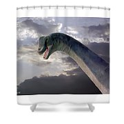 Dinosaur Sky Shower Curtain