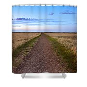 Dirt Road Through The Prairie Shower Curtain