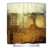 Dirty City View Shower Curtain