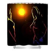 Disco Girls Shower Curtain