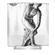 Discobolus Casting Shower Curtain