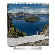 Discovery Point And Wizard Island Shower Curtain