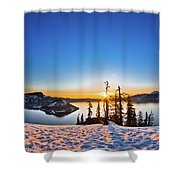 Discovery Point Sunrise Shower Curtain