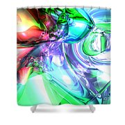 Disorderly Color Abstract Shower Curtain