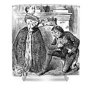 Disraeli Cartoon, 1876 Shower Curtain