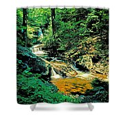 Distant Ozone Falls And Rapids - Summer Shower Curtain