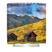Distant Storm Shower Curtain by Jeff Kolker