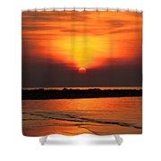 Distant Sun Shower Curtain