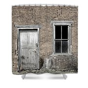 Distressed Facade Shower Curtain