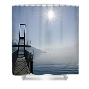 Diving Board Shower Curtain