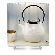 Diving On Tea Pot And Cup Shower Curtain