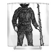 Diving Suit, 1855 Shower Curtain