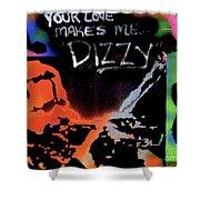 Dizzy Love Shower Curtain