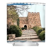 Do-00483 Byblos Citadel Shower Curtain