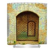 Do-00489 Old Door Within A Door-crackles Shower Curtain