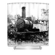 Do-00508 Mar Mikhael Train Bw Shower Curtain