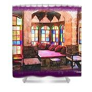 Do-00520 Emir Bachir Palace Interior-violet Bkgd Shower Curtain