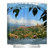 Do-00548 Town Of Bcharre Shower Curtain