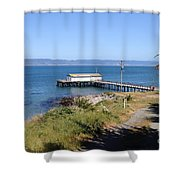 Dock At Point Reyes Calfornia . 7d16069 Shower Curtain
