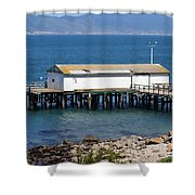 Dock At Point Reyes Calfornia . 7d16070 Shower Curtain