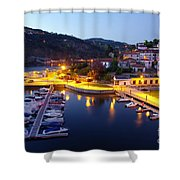 Dock In Douro River Shower Curtain