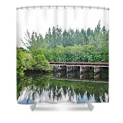 Dock On The North Fork River Shower Curtain