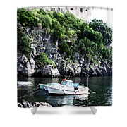 Docked At Sea Shower Curtain
