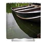 Docked In Central Park Shower Curtain