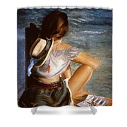 Dockside Daydreaming Shower Curtain