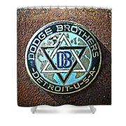 Dodge Brothers Badge Shower Curtain by Steve McKinzie