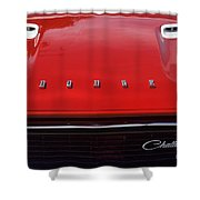 Dodge Challenger Hood And Grill Shower Curtain