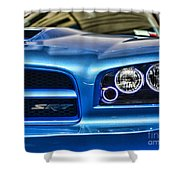 Dodge Charger Front Shower Curtain