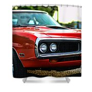 Dodge Super Bee Classic Red Shower Curtain