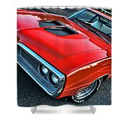 Dodge Super Bee In Red Shower Curtain