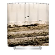 Dodging The Waves Shower Curtain